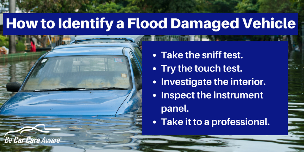 How to Identify a Flood Damaged Vehicle